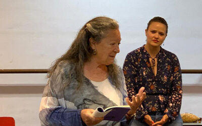 Visita de las poetas Elsa López y Covadonga García Fierro al Colegio Mayco, en La Laguna, 2019